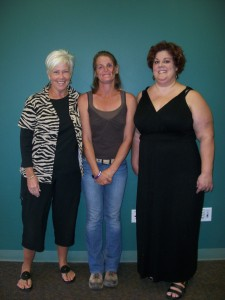 Community Coach Kay, YRP Participant Clarissa, and Parole officer Hedda Fay